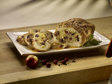 Cranberry Apple Stuffed Turkey