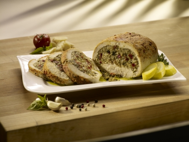 Veggie Pesto Stuffed Chicken